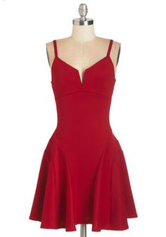 Take it from the Top-Notch Dress in Red. Get back to the basics of elegance in this ravishing ruby-red dress. #red #modcloth