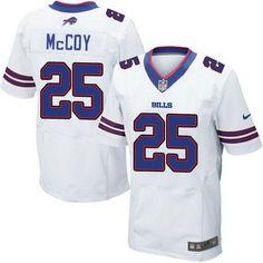 Nike Buffalo Bills 25 LeSean McCoy Royal White Elite Jersey