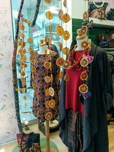 Autumn window display at our shop