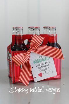 FREE PRINTABLE TEACHER APPRECIATION WEEK CREATIVE GIFT IDEA SODA-LIGHTED YOU'RE MY TEACHER - 25+ teacher appreciation week ideas - NoBiggie.net