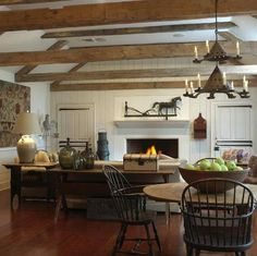Fabulous Folk Art Collection in Morristown, New Jersey Farmhouse