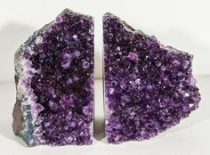 Pair of Spectacular Large-Scale Natural Amethyst Bookends image 2 Geode Bookends, Cool Rocks, Amethyst Geode, Tudor, Deep Purple, Apartment Ideas, Sculptures, Room Ideas, Scale