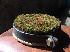 Декоративная подставка под горячую посуду, изготовлена из сосновых иголок