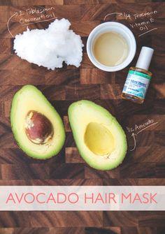 Avocado Hair Mask | The Best Homemade Skin Care Recipes | Sugar Scrub, Gifts Ideas & More