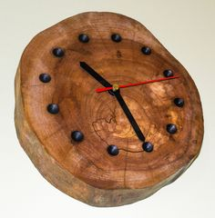 Wall Clock  Cherry Wood Finishing: Linseed oil and polished bees wax Price 50  Euro