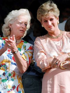 Lady Diana Spencer with her mother, Frances Shand Kydd.