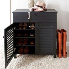 Baxton Studio Pocillo Wood Shoe Storage Cabinet, Brown Baxton ...