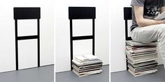 The Stack Chair Sets a Practical Pile Boundary #uniquedecals #stickerdecals trendhunter.com