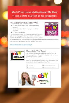 Work From Home Making Money On Ebay
