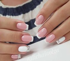 16 Pretty Nail Art Trend for Crazy Nails, Love Nails, Pretty Nails, Pink Gel, Pink Nails, French Nails, Nail Deco, Manicure Gel, Nailed It