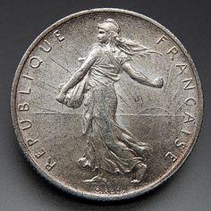 1918 France 2 Francs Nice Collectible Silver Coin – Gold Stream Boutique