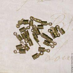 Купить концевик для шнура, 7,5 х 2,5 мм, цинковый сплав, цвет бронза, 10 шт
