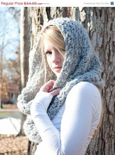 Hey, I found this really awesome Etsy listing at https://www.etsy.com/listing/88580244/sale-the-chunky-cowl-scarf-shawl-hood