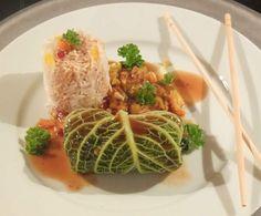 Rezept Wirsingroulade mit Hühnchen - Asiatische Art von Schirmle - Rezept der Kategorie Hauptgerichte mit Fleisch