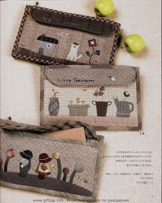 Patchwork and applique books and mags from Japan Japanese Patchwork, Patchwork Bags, Quilted Bag, Japanese Bags, Small Quilts, Mini Quilts, Wool Applique, Applique Quilts, Quilting Projects