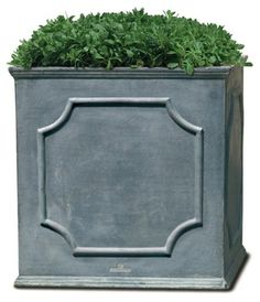 Campania International Cumberland Square Planter, Lead Lite, Add something special to the garden, patio, or deck with this pretty design. Square Planters, Outdoor Planters, Garden Planters, Outdoor Gardens, Planter Pots, Clay Planter, Rooftop Gardens, Garden Benches, Concrete Planters