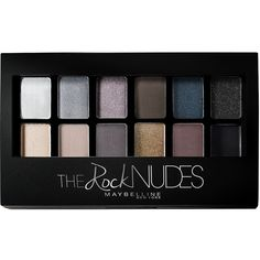 Maybelline Eye Shadow Pallet Rock Nudes ($23) ❤ liked on Polyvore featuring beauty products, makeup, eye makeup, eyeshadow, beauty, cosmetics, hygiene, multicoloured, womens-fashion and maybelline eye shadow