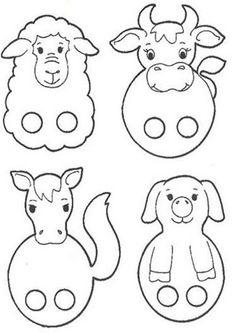 Autismus Arbeitsmaterial: Fingerpuppen Autism working material: finger puppets per bambini Kids Crafts, Bible Crafts, Toddler Crafts, Preschool Crafts, Felt Finger Puppets, Puppet Crafts, Farm Theme, Animal Crafts, Preschool Activities