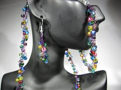 Confetti Wire Crochet 19 inch Necklace by AnjasWireCrochet on Etsy, $19.00