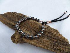 Boho Bracelet Hematite and Copper Bracelet by ColeTaylorDesigns
