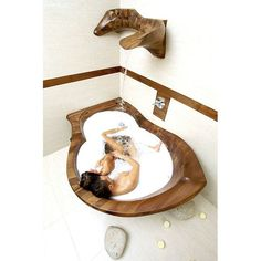 PRODUCTS :: LIVING AND DESIGN :: Bathroom :: Bathtubs :: WOODEN BATHTUBE Nirvana