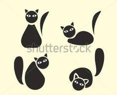 Vtipné Kreslené Kočky, Černé Siluety obrázky - ClipartLogo.com
