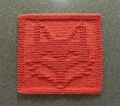 FOX Wash Cloth / Dishcloth / Quilt Block pattern by Aunt Susan