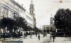 La Plaza Principal hacia 1920-1940