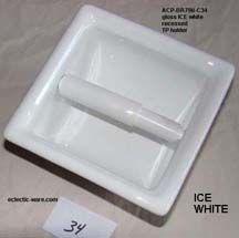 recessed toilet paper holders in 100 ceramic colors