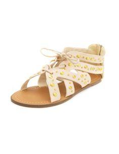 studded laceup gladiator sandal Lace Up Gladiator Sandals dc2da56995f