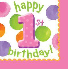 Baby Girl's First Birthday Party Poka Dots Theme