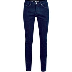 TOPMAN Blue Rinse Wash Stretch Skinny Jeans (60 CAD) ❤ liked on Polyvore featuring mens, men's clothing, men's jeans, pants, jeans, bottoms, calças and trousers