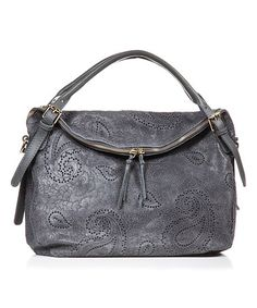 Look what I found on #zulily! Gray Paisley Leather Hobo #zulilyfinds