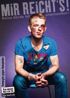 """Campagne de Deutsche AIDS-Hilfe - 17 mai 2011 """"CA SUFFIT! Touche pas à ma dignité!"""""""