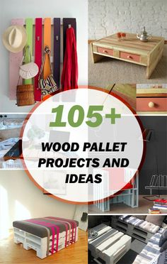 105+ Wood Pallet Projects and Ideas For some reason I like a lot of pallet ideas.