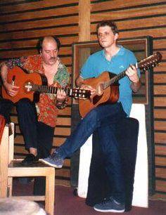 Litto Nebbia & Guillermo Cazenave (Buenos Aires, Estudios Melopea). Litto, pionero del pop-rock en Argentina y uno de los primeros que, a mediados de los 60s, se atrevió a componer en el idioma de Cervantes.