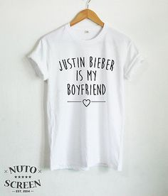 JUSTIN BIEBER SHIRT JUSTIN BIEBER IS MY BOYFRIEND T-SHIRTS TUMBLR CLOTHING TEE
