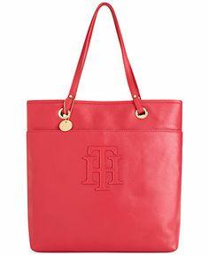 Tommy Hilfiger Handbag, TH Logo Patch Leather Tote  Web ID: 863474 5 / 5 5 reviews Reg. $188.00 Was $140.99 Sale $93.99
