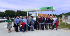 is from the ribbon cutting for a public station in Fayetteville, TN that American Natural Gas (ANG) built and Frito-Lay is using to refuel their nearby CNG trucks! Fayetteville Public Utilities is our local partner. Domestic Cleaners, Frito Lay, Class 8, Tennessee, Public, Ribbon, Trucks, American, City