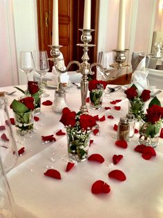 Wedding decoration with red roses made by Princess Dreams in June 2013