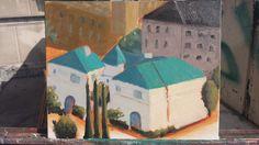 Wilshire house, oil, version 2. 2015.