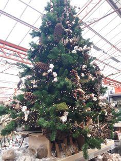 Kerstboom koper natuurlijke materialen denneappel hout