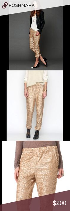 FREE PEOPLE Sequin jogger pants Free People Sequin Jogger. Lined. Brand New without tags, never got a chance to wear! Hard to find!  Retail: $168 Size: Small  ❤I have over 300 new with tag Free People items for sale! I love to offer bundle discounts!  ❤No trades. love the item but not the price? Submit an offer! Free People Pants Track Pants & Joggers