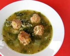 Soupe à la scarole et boulettes de dinde Actifry, Palak Paneer, Pork, Menu, Chicken, Cooking, Ethnic Recipes, Kitchen, Desserts