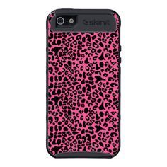 Trendy Hot Pink And Black Leopard Print Case For iPhone 5