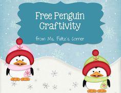 Free penguin craftivity from Ms. Fultz's Corner