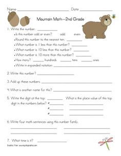 mountain math daily worksheet for 3rd grade product from 3rd grade treasures on teachersnotebook. Black Bedroom Furniture Sets. Home Design Ideas