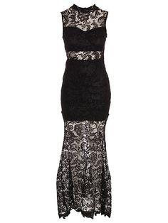 Long Crochet Maxi Dress