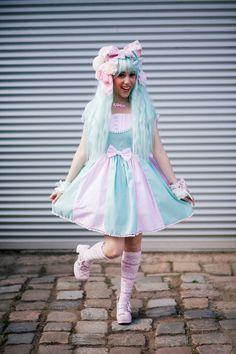 Pastel mint Sweet Lolita dress by MademoiselleOpossum on Etsy, €139.90