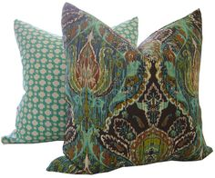 Decorative Pillow Cover BELLA IKAT / 12x18 by CaliforniaLivinHome, $39.00